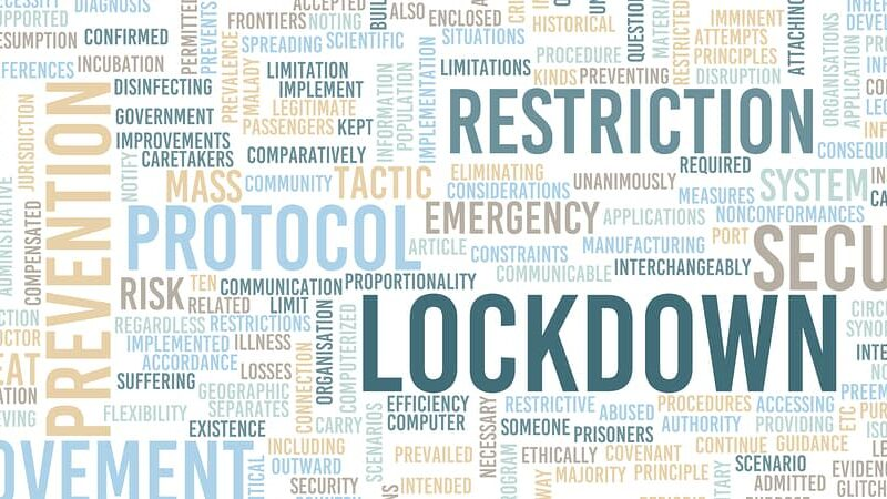 Lockdown Emergency Protocol Preventive Action Health Crisis Concept